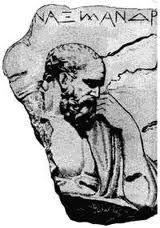 ANAXIMANDRO DE MILETO (547 a. C.): Defendía que el principio material de las cosas es ápeiron (sin término, sin límite, sin definición): lo indeterminado, lo indefinido. También es el primero en hablar de los opuestos como esenciales en la evolución del mundo que luego retomarán Heráclito, Parménides, Empédocles y los pitagóricos