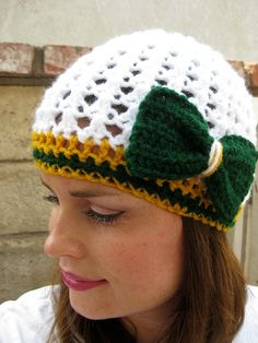 Women's Green Bay Packers Football Team Beanie ( or choose your own team)