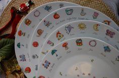 kézzel festett porcelán tányér (SILA) - Meska.hu