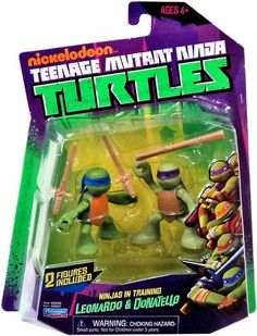 Amazon Teenage Mutant Ninja Turtles Ninjas In Training Don And Leo Action Figure