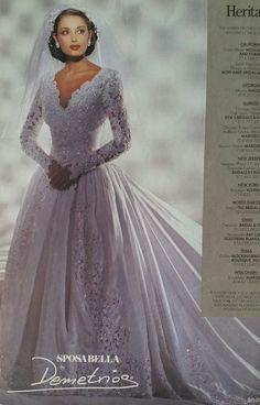 Demetrios gown 1995 in Brides Magazine Retro Wedding Dresses, Bridal Dresses, Wedding Gowns, Retro Weddings, Wedding Venues, Vintage Gowns, Vintage Bridal, Beautiful Gowns, Beautiful Bride