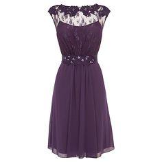 Buy Coast Lori May Short Dress, Grape, 6 Online at johnlewis.com
