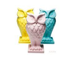 Sowa Wazon Ceramiczny Różne Kolory 17.5 cm   - 1