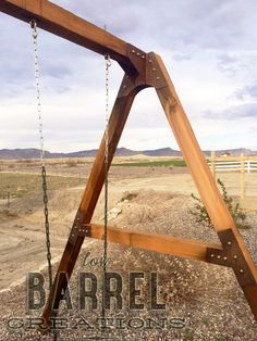 Rustic Industrial Swing Set Bracket Kit by LowBarrelCreation on Etsy $175 free shipping to anywhere in the US