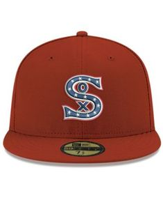 New Era Chicago White Sox Retro Stock 59FIFTY Fitted Cap - Red 7 d5e2fbb2c6a8