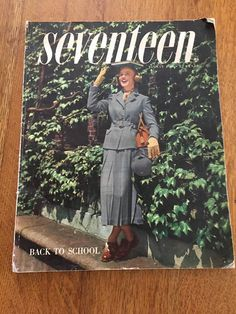This vintage 1949 Seventeen magazine has 280 pages full of wonderful clothing advertisements. Its the August 1949 back to school issue so it contains many colorful ads for luggage, dorm room needs, dresses, shoes, coats, pajamas, robes, perfume, even a black & white ad of a very young Elizabeth Taylor wearing an angora sweater. I didnt realize Seventeen magazine was printed in the 1940s, this one is a treasure for vintage fashion collectors or sellers. Its full of fun post World War 2 ill...