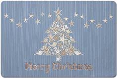 Seashell Christmas Tree Floor Mat