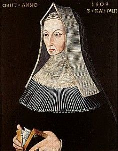 This tough cookie is Margaret Beaufort, the mother of Henry VII. Henry was born when Margaret was only 13 years old. From that moment on, it was her mission to advance the interests of her son, help him become king, and found a powerful dynasty. She succeeded in doing all three -- no wonder all the surviving portraits of her show a woman who looks like she refused to take any bull from anybody, and whose laser-beam glare could freeze anyone in their tracks. I wouldn't want to get on her bad…