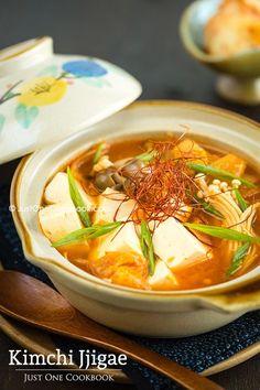 Kimchi Jjigae (Kimchi Stew)   Easy Japanese Recipes a JustOneCookbook.com