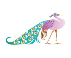 Peacock Nursery Wall Decal  Vinyl Decal Decor by GraydientDesigns, $58.00