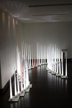 The White Forest lighting installation by amigo & amigo , via Behance