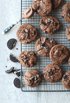 Healthy Cookie Recipes, Vegan Desserts, Gourmet Recipes, Sweet Recipes, Baking Recipes, Delicious Desserts, Dessert Recipes, Yummy Food, Nutella Cookies