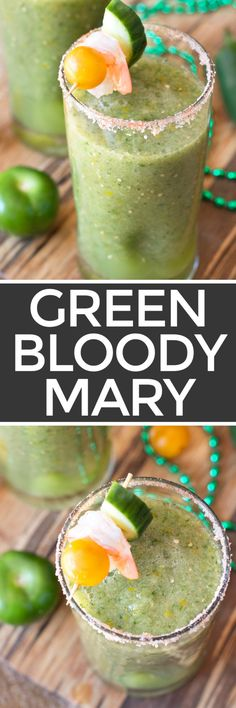 When the hangover hits you tomorrow, make sure you have a Spicy Green Bloody Mary to cure the pain. You can thank me later! http://www.cakenknife.com/spicy-green-bloody-mary/ | cakenknife.com