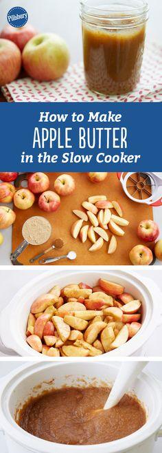 Fruit Recipes, Apple Recipes, Fall Recipes, Plum Recipes, Apple Desserts, Homemade Apple Butter, Crockpot Apple Butter, Butter Crock, Honey Butter