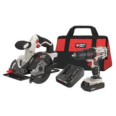 Factory Reconditioned Porter-Cable PCCK612L2R 20V MAX Cordless Lithium-Ion 1/2 in. Drill & 5-1/2 in. Circular Saw Combo Kit