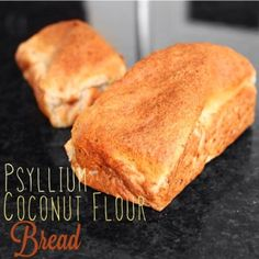 Ripped Recipes - Psyllium Coconut Flour Bread - Super high in fiber bread that tastes great Wheat Free Recipes, Other Recipes, Low Carb Recipes, Cooking Recipes, Cooking Tips, Vegan Recipes, Protein Bread, Low Carb Bread, Ripped Recipes