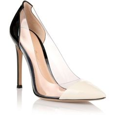 Gianvito Rossi Black cream patent leather pump ($750) ❤ liked on Polyvore featuring shoes, pumps, heels, gianvito rossi, sapatos, black high heel shoes, stiletto pumps, high heels stilettos, black patent pumps и cream pumps