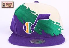Utah Jazz Mitchell & Ness Vintage Paintbrush Snap Back Hat by Mitchell & Ness. $18.97. Officially licensed. Manufactured by Mitchell & Ness. Made of 100% wool which provides a true throwback look. Snap back. Full embroidered paintbrush design. Help support your favorite team in this Retro Snap Back Hat from Mitchell & Ness. Features embroidered logo's, stylish adjustable snap back, full embroidered paintbrush design, gray under visor, and contrasting team colo...