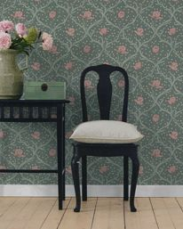 "Boråstapeter - Falsterbo II - ""Tulippa"" Big Move, Wishbone Chair, Dressing Room, Vanity Bench, Old Things, Display, Wallpaper, Inspiration, Furniture"