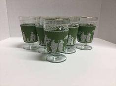 Vintage Grecian Jeanette Glass Co Jasperware by FindingYesterday