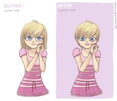 Rose before and after