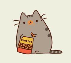 eating cheetos so idyllically!