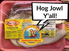 Have you tried smoked hog jowl? And you can find it in the supermarket! Bacon Videos, Best Bacon, Smoked Pork, Bacon Recipes, Have You Tried, Canning, Ham Recipes, Home Canning, Conservation