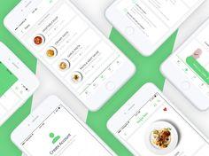 """다음 @Behance 프로젝트 확인: """"Recipe Box    App UI Design"""" https://www.behance.net/gallery/47546961/Recipe-Box-App-UI-Design"""