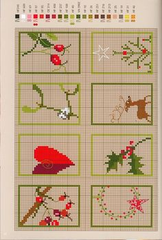 variety of easy looking Christmas xstitch patterns