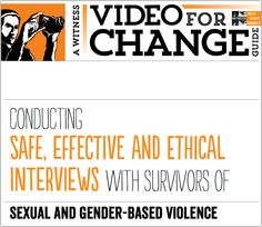 futurejournalismproject:  If You Suddenly Find Yourself Covering Gender-Based Violence Ray Rice's assault on his wife put domestic violence front and center of the news where it's being covered by many who have no experience reporting on the issue. Enter WITNESS' guide for conducting interviews with survivors of gender-based violence. It's an important resource for those thinking of interviewing survivors about the issue, or reporting on gender-based violence more deeply. Via the Dart Center…