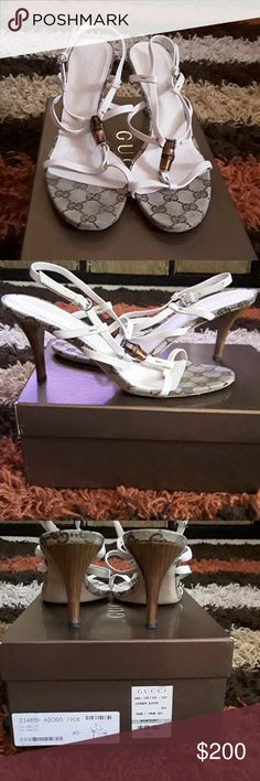 Gucci Off White Sandals Gucci 3 inch Off White Sandals (Worn rwice) Gucci Shoes Sandals