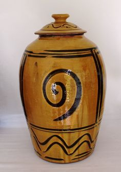 Large lidded jar by Jim Behan, Ireland.