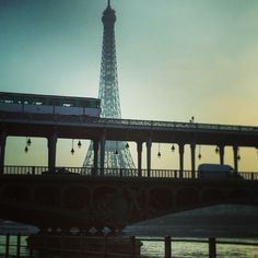 Off to work with this view! Eiffel tower Subway