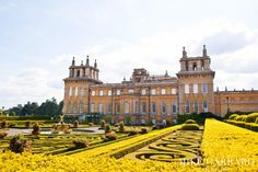 The magnificent exterior and gardens of Blenheim Palace.