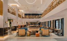 Hotel Norge from Dutch firm Concrete embraces Bergen's history with a design highlighted by the eternal sunshine of the giant sun in the lobby. Bergen, Norway Hotel, Wordpress, Wooden Staircases, Eternal Sunshine, Concrete Design, Lobbies, Design Firms, Cinema 4d