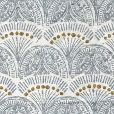 John Robshaw Textiles - Faris Silver - Handprinted Linens - Fabric