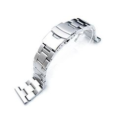 19mm SOLID 316L Stainless Steel Super Oyster Straight End Watch Band * Click image to review more details.