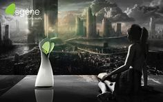 Osgène - Oxygen Appliance inhales CO2 in the air we breathe and returns purified oxygen creating a healthy air environment. #air #health #YankoDesign