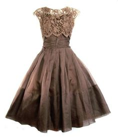 1950's Lace and Organza Dress