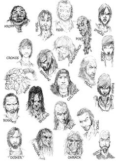 Erikson characters by ~slaine69 on deviantART