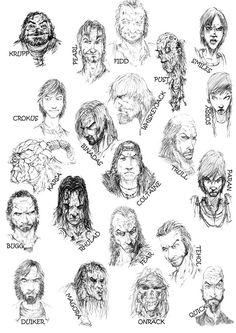Erikson characters by slaine69.deviantart.com on @DeviantArt