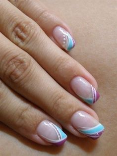 duo side-swirl French tips