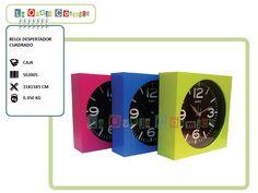 Reloj Despertador Cuadrado - Promoción -15% = $81.5 (antes $96.-)