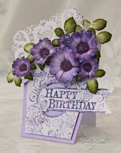 Verity Cards: Birthday Flowers
