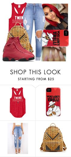 """""""Untitled #1040"""" by chynaloggins ❤ liked on Polyvore featuring MCM and NIKE"""