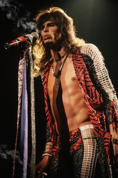 """full-of-broken-thoughts: """" Steven Tyler - Aerosmith """" Elvis Presley, Steven Tyler Aerosmith, Elevator Music, Joe Perry, We Will Rock You, Rock And Roll Bands, Rockn Roll, I Love Music, Glam Rock"""