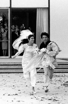 "Elaine and Ben in ""The Graduate,"" photographed by Bob Willoughby"