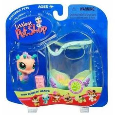 "Littlest Pet Shop Pets On The Go Figure Seahorse in Aquarium by Hasbro. $12.77. Yes, this hard-to-find Littllest Pet Shop item is in stock and ready to ship!. Welcome a new friend into your very own LITTLEST PET SHOP, where all your pet-lovin' dreams come true! This colorful little seahorse comes with her own ""food"" and an aquarium to call her own!"