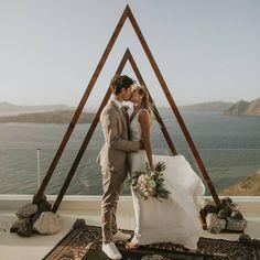 Santorini Wedding, Santorini Greece, Elopements, Tie The Knots, Beautiful Couple, Special Day, Bride Groom, Ladder Decor, Photographers