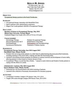 Resume For Physical Therapist Nail Your Occupational Therapy Job Interview  Occupational Therapy .